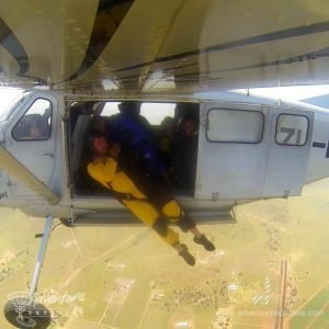 Static Line Student Being Deployed