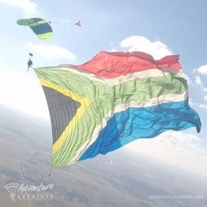 Flying The Big South African Flag